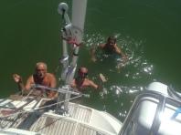 Ijselmeer - Badechance und Unterwasserschiff schrubben